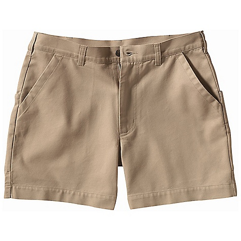 On Sale. Free Shipping. Patagonia Men's Stand-Up Short 5 Inch Inseam FEATURES of the Patagonia Men's Stand-Up Short 5 Inch Inseam Durable organic cotton canvas softens with age Double-fabric seat for abrasion resistance; zip fly with button closure Pockets: Quarter top front; two back with hook-and-loop closures; inset security pocket - $49.99
