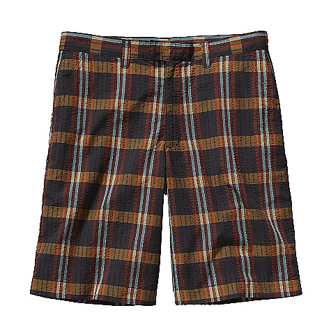Free Shipping. Patagonia Men's Thrift Short DECENT FEATURES of the Patagonia Men's Thrift Short Cool-wearing recycled polyester and organic cotton seersucker Shorts have belt loops, zip fly and tabbed metal hook-slider closure Two slanted front pockets One zippered rear pocket The SPECS Regular fit Inseam: 10in. Weight: 7.7 oz / 218 g 3.4-oz 65% all-recycled polyester, 35% organic cotton seersucker This product can only be shipped within the United States. Please don't hate us. - $69.00