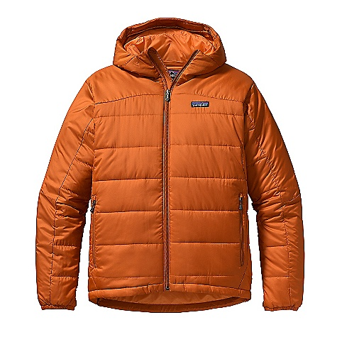 Free Shipping. Patagonia Men's Micro Puff Hooded Jacket DECENT FEATURES of the Patagonia Men's Micro Puff Hooded Jacket Ultralight, windproof shell and liner made of recycled polyester and treated with a Deluge DWR (durable water repellent) finish for wet-weather protection Insulated with superwarm and ultra compressible 100-g PrimaLoft One Single-pull hood adjustment controls volume and improves visibility Durable, covered-elastic wrist closures Articulated elbows Full-length front zipper is treated with a Deluge DWR finish and backed with a low-bulk wind flap Drawcord hem Pockets: Two zippered handwarmers One zippered security interior One interior mesh drop-in Stuff sack included The SPECS Regular fit Weight: 20 oz / 567 g Shell: 1.5-oz 32-denier 100% recycled polyester Insulation: 100-g PrimaLoft One 100% polyester Lining: 1.4-oz 22-denier 100% recycled polyester Shell and lining have a Deluge DWR (durable water repellent) finish This product can only be shipped within the United States. Please don't hate us. - $229.00