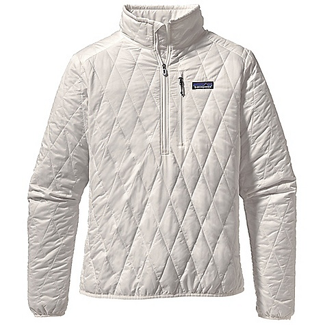 Free Shipping. Patagonia Women's Nano Puff Pullover DECENT FEATURES of the Patagonia Women's Nano Puff Pullover Ultra light ripstop recycled polyester shell fabric has a Deluge DWR finish Lightweight 60-g PrimaLoft One insulation provides excellent warmth and compressibility Deep center-front zipper allows for easy ventilation Stuffs into zippered self-storage chest pocket with a reinforced carabineer clip-in loop Elasticized cuffs and hem seal out wind The SPECS Regular fit Weight: 8.6 oz / 243 g Shell: 1-oz 15-denier 100% recycled polyester Insulation: 60-g PrimaLoft One 100% polyester (70% recycled) Lining: 1.4-oz 22-denier 100% recycled polyester Shell and lining have a Deluge DWR (durable water repellent) finish This product can only be shipped within the United States. Please don't hate us. - $169.00