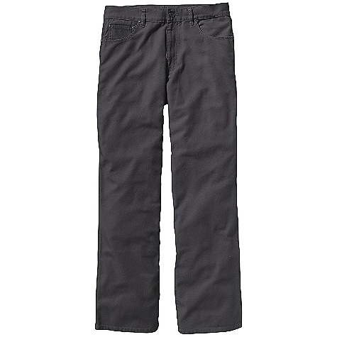 Free Shipping. Patagonia Men's Builder Pant DECENT FEATURES of the Patagonia Men's Builder Pant Made of organic cotton canvas for a tough, yet skin-friendly feel 5-pocket jeans styling Zip fly with button closure Patch pockets on seat, left thigh and drop in right thigh pocket Hammer loop The SPECS Relaxed fit Weight: 20.2 oz / 573 g Inseam: 32in. 10-oz 100% organic cotton canvas This product can only be shipped within the United States. Please don't hate us. - $75.00