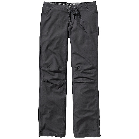 Climbing Free Shipping. The Patagonia Women's Escala Pants DECENT FEATURES of the Patagonia Women's Escala Pants Rugged, organic cotton canvas fabric with built-in stretch Zip fly with button closure and drawcord Gusseted crotch and grown-on waistband for climbing functionality Pockets: Two front, two rear patched-on, plus one at back has zippered security Articulated knees for freedom of movement Low rise Straight leg The SPECS Regular fit Inseam: 32in. Weight: 15.1 oz / 428 g 8 oz 98% organic cotton, 2% spandex canvas This product can only be shipped within the United States. Please don't hate us. - $79.00