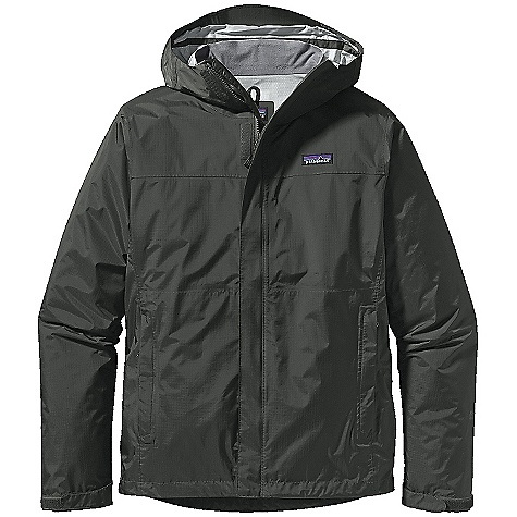 On Sale. Free Shipping. Patagonia Men's Torrentshell Jacket DECENT FEATURES of the Patagonia Men's Torrentshell Jacket H2No Performance Standard shell with waterproof/breathable 2.5-layer nylon ripstop 2-way-adjustable hood with a laminated visor rolls down and stows Micro fleece-lined neck provides comfort and protects waterproof/breathable barrier Center-front zipper features minimal welt storm flap that creates a zipper-garage chin guard Pockets: two zippered hand warmers and venting pit zips all with welted exterior storm flaps and DWR-treated zippers Self-fabric hook-and-loop cuff closures and adjustable draw cord hem seal out elements Stows in self-stuff hand warmer pocket with carabiner clip-in loop The SPECS Regular fit Weight: 12.2 oz / 346 g H2No Performance Standard shell: 2.5-layer, 2.6-oz / 50-denier 100% nylon ripstop with a waterproof/breathable barrier and a Deluge DWR (durable water repellent) finish This product can only be shipped within the United States. Please don't hate us. - $89.99