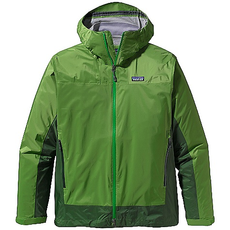 On Sale. Free Shipping. Patagonia Men's Rain Shadow Jacket DECENT FEATURES of the Patagonia Men's Rain Shadow Jacket Lightweight, 2.5-layer tear-resistant nylon shell with a waterproof/breathable H2No barrier and Deluge DWR (durable water repellent) finish Highly engineered interior surface texture channels moisture away from skin, protects the waterproof/breathable barrier from abrasion and slides easily over layers Roll-down, 2-way-adjustable hood with a laminated visor for visibility in poor conditions Pockets: Two unlined, waterproof handwarmers All exterior zippers and pit zips are coated with a Deluge DWR finish and are watertight Microfleece-lined neck and chin for comfort Updated custom zipper pulls The SPECS Regular fit Weight: 5.7 oz / 161 g 2.5-layer, 2.5-oz 100% nylon, with a waterproof, breathable H2No barrier and a Deluge DWR (durable water repellent) finish This product can only be shipped within the United States. Please don't hate us. - $124.99