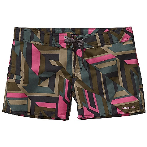 Surf Patagonia Women's Wavefarer Board Shorts DECENT FEATURES of the Patagonia Women's Wavefarer Board Shorts Nylon fabric is lightweight, durable and quick drying Snap fly with flat-tie closure for a secure fit Contoured yoke waistband Set-in side pocket has a key loop, button closure and mesh liner for drainage The SPECS Regular fit Inseam: 4in. Weight: 4.2 oz / 119 g Low rise 4.3 oz 100% nylon with a DWR finish This product can only be shipped within the United States. Please don't hate us. - $49.00