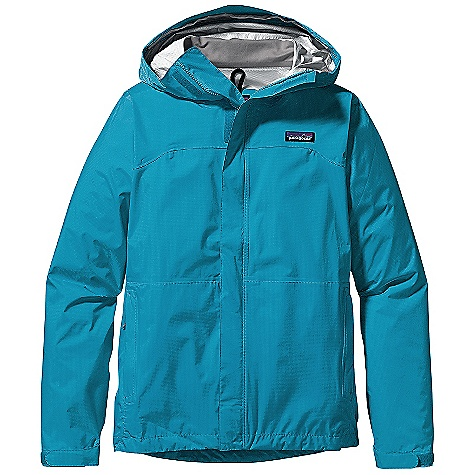 On Sale. Free Shipping. Patagonia Women's Torrentshell Jacket DECENT FEATURES of the Patagonia Women's Torrentshell Jacket 2.5-layer H2No Performance Standard nylon ripstop waterproof/breathable fabric repels moisture 2-way-adjustable hood with a laminated visor rolls down and stows Microfleece-lined neck provides comfort and protects waterproof/ breathable barrier Center-front zipper wit exterior and interior storm flaps Pit zips feature storm flaps and Deluge DWR-treated zippers Self-fabric hook-and-loop cuff closures Pockets: Two handwarmers One internal mesh drop-in Shell packs into zippered storage pocket Drawcord hem seals out moisture The SPECS Regular fit Weight: 12.8 oz / 362 g H2No Performance Standard shell: 2.5-layer, 2.6 oz 50-denier 100% nylon ripstop with a waterproof/breathable barrier and a Deluge DWR (durable water repellent) finish This product can only be shipped within the United States. Please don't hate us. - $82.99