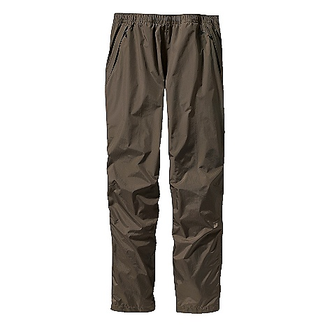 On Sale. Free Shipping. Patagonia Men's Torrentshell Pants DECENT FEATURES of the Patagonia Men's Torrentshell Pants 2.5-Layer H2No Performance Standard Nylon Ripstop Waterproof/Breathable Fabric Repels Moisture Pull-On, Elasticized Self-Fabric Waistband with Internal Drawcord Two Zippered Handwarmer Pockets and Zippered Back Pocket All Have Deluge DWR-Treated Zippers and Storm Flaps Articulated Knees Adjustable, Self-Fabric Hook-And-Loop Closure At Ankle with Deluge DWR-Treated Zipper and Storm Flap Pants Stow In Left Handwarmer Pocket The SPECS Weight: 9.6 oz / 272 g H2No Performance Standard Shell: 2.5-Layer, 2.6 oz 50-Denier 100% Nylon Ripstop with a Waterproof/Breathable Barrier and a Deluge DWR (Durable Water Repellent) Finish This product can only be shipped within the United States. Please don't hate us. - $68.99