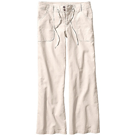 Free Shipping. Patagonia Women's Island Hemp Pants DECENT FEATURES of the Patagonia Women's Island Hemp Pants Hemp is soft with a linen-like drape Zip fly with double-button closure Waistband with drawstring and belt loops Drop-in front patch pockets back patch pockets with button closure The SPECS Regular fit Inseam: 32in. 4-oz 55% hemp 45% organic cotton plain weave This product can only be shipped within the United States. Please don't hate us. - $79.00