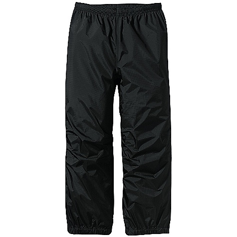 Free Shipping. Patagonia Kids' Torrentshell Pants DECENT FEATURES of the Patagonia Kids' Torrentshell Pant H2No Performance Standard rain pants made of a durable 2.5-layer nylon ripstop fabric with a waterproof/breathable barrier and a Deluge DWR finish Fully elasticized waistband has an internal drawcord for a secure fit Elasticized pant cuff keeps wet weather out Articulated knees Webbing loops inside cuff hem attach tie-down straps Reflective logo on back of leg; reflective taping on side seams The SPECS Regular fit Weight: 5.9 oz / 167 g H2No Performance Standard Shell: 2.5-layer, 2.6-oz 50-denier 100% nylon ripstop with a waterproof/breathable barrier and a Deluge DWR (durable water repellent) finish This product can only be shipped within the United States. Please don't hate us. - $59.00