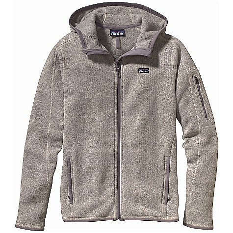 On Sale. Free Shipping. Patagonia Women's Better Sweater Full-Zip Hoody DECENT FEATURES of the Patagonia Women's Better Sweater Full-Zip Hoody Fabric has sweater-knit face, fleece interior and heathered overdye yarns with a knit-like texture Hood for added warmth Raglan sleeves, princess seams on back, and forward seams on front for contoured shape and fit Full-length zipper has a wind flap and zipper garage Pockets: zippered handwarmers, zippered security on sleeve Polyester jersey trim on hood, cuffs, hem, pocket openings and wind flap Hip length The SPECS 9.5-oz 100% polyester with a sweater-knit exterior and fleece interior Weight: 19.1 oz / 541 g Slim fit This product can only be shipped within the United States. Please don't hate us. - $102.99