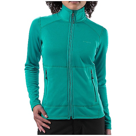 On Sale. Free Shipping. Patagonia Women's R1 Full-Zip Jacket DECENT FEATURES of the Patagonia Women's R1 Full-Zip Jacket Versatile R1 fleece provides excellent stretch, warmth, wicking and breathability in a variety of temperatures Fleece has high/low grid on inside for enhanced compressibility, airflow, and dry time Microfiber face speeds moisture-wicking and allows for easy layering Off-shoulder seam construction reduces bulk under a pack Two zippered hand warmer pockets The SPECS Slim fit Weight: 11.5 oz / 326 g 6.8-oz Polartec Power Dry 93% polyester (41% recycled), 7% spandex This product can only be shipped within the United States. Please don't hate us. - $75.99