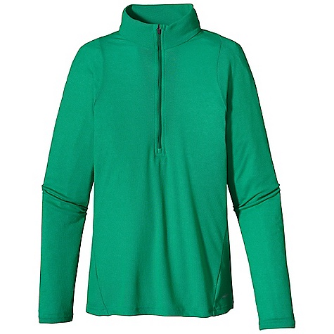 On Sale. Patagonia Women's Capilene 2 Lightweight Zip Neck DECENT FEATURES of the Patagonia Women's Capilene 2 Lightweight Zip Neck Open knit promotes airflow, is naturally stretchy and provides excellent wicking for endurance activities in cool to moderate temperatures Our fastest-drying baselayer fabric insulates enough for use on chilly days and can be worn beneath other layers Zip-neck for easy climate control Backed by draft flap with zipper garage Raglan sleeves and underarm panels merge out of the way of pack straps Flat-rib panel-piecing under the arms and sides is exceptionally breathable, fast drying and eliminates armpit seam chafing Machine-wash cold, tumble dry at low temperature The SPECS Slim fit Weight: 5.2 oz / 147 g 4-oz 100% polyester (54% recycled) circular knit, with Gladiodor odor control for the garment This product can only be shipped within the United States. Please don't hate us. - $25.99