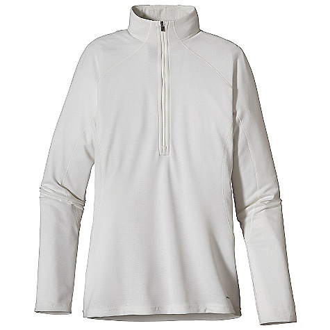 On Sale. Free Shipping. Patagonia Women's Capilene 3 MW Zip Neck DECENT FEATURES of the Patagonia Women's Capilene 3 MW Zip Neck Stretchy double-knit fabric wicks extremely well Durable smooth jersey face slides easily beneath layers Fabric is brushed for warmth, softness and compressibility provides excellent insulation and breathability Zip-neck for easy climate control is backed by kissing welts for low-bulk comfort next to skin Raglan sleeves and underarm panels placed strategically to provide full range of motion and comfort under layers Straight hem cut long enough to tuck in Machine-wash cold, tumble dry at low temperature The SPECS Slim fit Weight: 7.7 oz / 218 g 5.4-oz Polartec Power Dry 100% polyester (Solids: 65% recycled, Heathers: 51% recycled, Stripes: 56% recycled) double-knit All with Gladiodor odor control for the garment This product can only be shipped within the United States. Please don't hate us. - $28.99