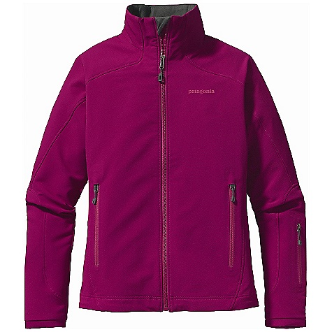 Free Shipping. Patagonia Women's Guide Jacket DECENT FEATURES of the Patagonia Women's Guide Jacket Highly breathable, wind-resistant, stretch-woven recycled polyester with 4-way stretch is treated with a Deluge DWR (durable water repellent) finish for wet-weather protection Brushed interior for next-to-skin comfort and moisture management Micro fleece-lined collar, chin guard and wind flap Pockets: two hand warmers with zipper garages and Deluge DWR (durable water repellent) finish Articulated sleeves for enhanced mobility and full coverage during long reaches Sleek, low-profile cuffs Dual-adjust draw cord hem The SPECS Slim fit Weight: 16.7 oz / 473 g 7.6-oz 70-denier stretch-woven 92% polyester (47% recycled), 8% spandex with 4-way stretch and Deluge DWR (durable water repellent) finish Collar, chin guard, and wind flap: 5.5-oz 100% polyester brushed micro fleece This product can only be shipped within the United States. Please don't hate us. - $149.00