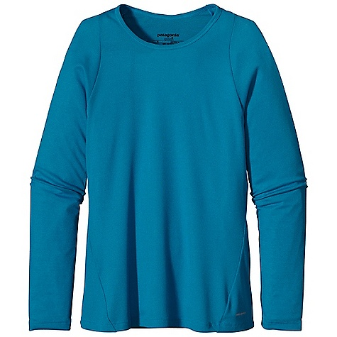 On Sale. Patagonia Women's Capilene 2 Lightweight Crew DECENT FEATURES of the Patagonia Women's Capilene 2 Lightweight Crew Open knit promotes airflow, is naturally stretchy and provides excellent wicking for endurance activities in cool to moderate temperatures Our fastest-drying baselayer fabric insulates enough for use on chilly days and can be worn beneath other layers Rib-knit collar is soft next to skin Raglan sleeves merge out of the way of pack straps Side seams rolled forward for comfort under layers Straight hem Long enough to tuck in Machine-wash cold, tumble dry at low temperature The SPECS Slim fit Weight: 3.7 oz / 104 g 4-oz 100% polyester (54% recycled) circular knit, with Gladiodor odor control for the garment This product can only be shipped within the United States. Please don't hate us. - $31.99