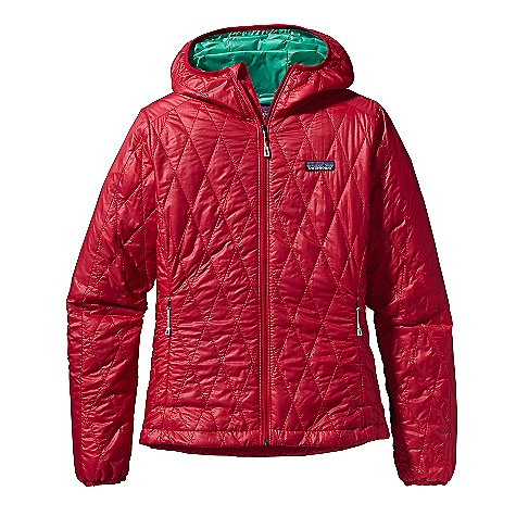Free Shipping. Patagonia Women's Nano Puff Hoody DECENT FEATURES of the Patagonia Women's Nano Puff Hoody Ultra light ripstop recycled polyester Lightweight 60-g PrimaLoft One insulation provides excellent warmth and compressibility Unique quilt pattern holds insulation in place for durability Zippered pockets: two hand warmers, one internal chest pocket (doubles as stuff sack) with a reinforced carabineer clip-in loop Under-the-helmet hood construction is light and simple Dual-adjust draw cord hem seals out wind The SPECS Regular fit Weight: 12.7 oz / 360 g Shell: 1-oz 15-denier 100% recycled polyester Insulation: 60-g PrimaLoft One 100% polyester (70% recycled) Lining: 1.4-oz 22-denier 100% recycled polyester Shell and lining have a Deluge DWR (durable water repellent) finish This product can only be shipped within the United States. Please don't hate us. - $249.00