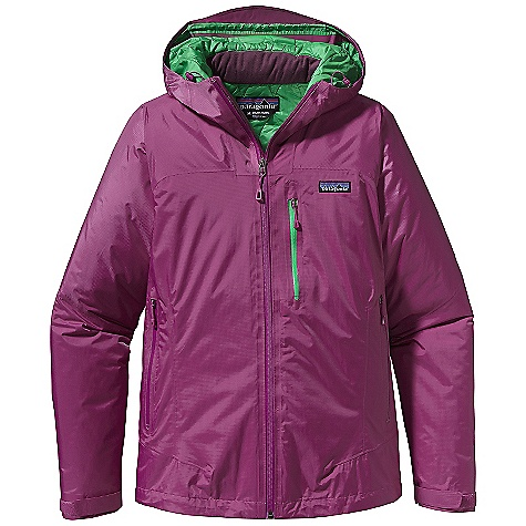 On Sale. Free Shipping. Patagonia Women's Nano Storm Jacket DECENT FEATURES of the Patagonia Women's Nano Storm Jacket Lightweight 60-g PrimaLoft One insulation provides excellent warmth and compressibility Unique quilt pattern holds insulation in place for durability Helmet-compatible, fully-adjustable hood with laminated visor provides good visibility in bad conditions Watertight-coated center-front-zipper Zippered Pockets: Two hand warmers One exterior left chest One internal pocket, one internal drop-in Self-fabric hook-and-loop cuff closures and dual-adjust draw cord hem seals out elements The SPECS Regular fit Weight: 22.6 oz / 640 g H2No Performance Standard Shell: 2.5-layer, 2.6-oz 50-denier 100% nylon ripstop with a waterproof/breathable barrier Insulation: 60-g PrimaLoft One 100% polyester Lining: 1.4-oz 22-denier 100% recycled polyester Shell and lining have a Deluge DWR (durable water repellent) finish This product can only be shipped within the United States. Please don't hate us. - $179.99