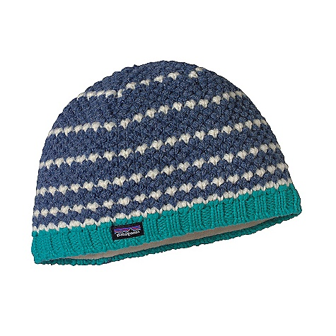 Entertainment On Sale. Patagonia Women's Beatrice Beanie DECENT FEATURES of the Patagonia Women's Beatrice Beanie Merino wool/nylon blend is warm and comfortable Fully fleece-lined for next-to-forehead comfort and even greater warmth Great, textural knit The SPECS Weight: 3.1 oz / 87 g Lining: 5.2-oz 100% polyester fleece 80% chlorine-free merino wool/20% nylon This product can only be shipped within the United States. Please don't hate us. - $27.99