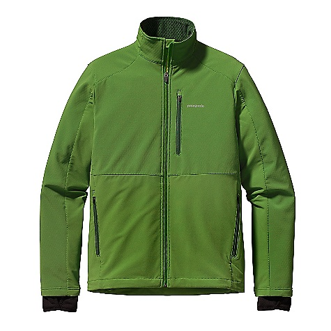 Free Shipping. Patagonia Men's Integral Jacket DECENT FEATURES of the Patagonia Men's Integral Jacket Versatile soft-shell jacket combines breathable double-weave fabric, with strategically placed windproof panels for protection; with Deluge DWR (durable water repellent) finish Fabrics sanded on the inside for improved moisture management and next-to-skin comfort Full-coverage, zip-through collar with wind flap Internal fleece cuff gaiter with thumb loops Pockets: Two zippered handwarmers; vertical left chest pocket with zipper and interior cord pass-through Slight drop tail with single-pull drawcord The SPECS Body: 9-oz 75-denier 91% polyester, 9% spandex double weave Front Chest and Top of Sleeves: 3-layer, 9.6-oz 70-denier 86% polyester, 14% spandex All have a Deluge DWR (durable water repellent) finish Cuff Gaiters: 5.9-oz Polartec Power Dry 94% polyester (53% recycled), 6% spandex, with moisture-wicking performance Weight: 21.2 oz / 601 g This product can only be shipped within the United States. Please don't hate us. - $129.00
