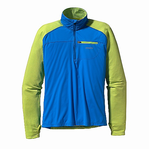 Free Shipping. Patagonia Men's Wind Shield Pullover DECENT FEATURES of the Patagonia Men's Wind Shield Pullover 3-Layer Circular Knit Polyester Is Windproof, Stretchy, and Provides Full Protection and Comfort R1 Fleece Arms, Back and Inside Collar For Increased Breathability and Superior Function As a Midlayer Zip-Through Collar with Brushed Fleece Next To Skin and Full Wind Flap Thumb Loops Zippered Chest Pocket with Interior Cord Pass-Through Reflective Logo On Left Chest and Center Back Slight Drop Tail The SPECS Slim fit Weight: 10.5 oz / 298 g Body: 3-Layer, 3.5 oz 20-Denier 100% Polyester Laminated To a Polyurethane Film, with a Deluge DWR (Durable Water Repellent) Finish Arms, Back and Inside Neck: 6.8 oz Polartec Power Dry 93% Polyester (41% Recycled), 7% Spandex This product can only be shipped within the United States. Please don't hate us. - $129.00