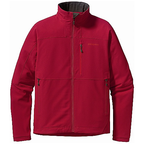 Free Shipping. Patagonia Men's Guide Jacket DECENT FEATURES of the Patagonia Men's Guide Jacket Highly breathable, wind-resistant, stretch-woven recycled polyester with 4-way stretch is treated with a Deluge DWR (durable water repellent) finish for wet-weather protection Brushed interior for next-to-skin comfort and moisture management Microfleece-lined collar, chin guard and wind flap Pockets: Two handwarmers with zipper garages, one left chest Deluge DWR-treated zippers on all pockets Articulated sleeves for enhanced mobility and full coverage during long reaches Sleek, low-profile cuffs Dual-adjust drawcord hem The SPECS Slim fit Weight: 18.5 oz / 524 g 7.6-oz 70-denier stretch-woven 92% polyester (47% recycled), 8% spandex with 4-way stretch and Deluge DWR (durable water repellent) finish Collar, chin guard, and wind flap: 5.5-oz 100% polyester brushed microfleece This product can only be shipped within the United States. Please don't hate us. - $149.00