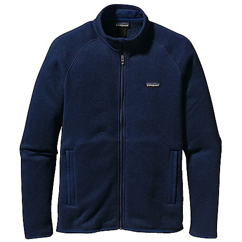 On Sale. Free Shipping. Patagonia Men's Better Sweater Jacket DECENT FEATURES of the Patagonia Men's Better Sweater Jacket Fabric has a sweater-knit face, fleece interior and heathered yarns Full-zip jacket with zip-through, stand-up collar and zipper garage Raglan sleeves for pack-wearing comfort Two zippered hand warmer pockets Micro polyester jersey trim on cuffs, hem and back of neck Can be worn with layers as outerwear or as a midlayer under a shell Hip length The SPECS Regular fit Weight: 16.4 oz / 465 g 9.5-oz 100% polyester with a sweater-knit exterior and fleece interior This product can only be shipped within the United States. Please don't hate us. - $110.99