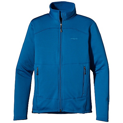 On Sale. Free Shipping. Patagonia Men's R1 Full-Zip Jacket DECENT FEATURES of the Patagonia Men's R1 Full-Zip Jacket Our classic R1 fleece - with it's high/low grid pattern for enhanced wicking, airflow and fast dry times - provides excellent stretch, warmth, and durability in a variety of temperatures A lighter weight, micro-grid fabric on inner collar, underarm gusset, and Variable Conditions Cuff improves breathability and dry times where you need it most A re-engineered pattern offers a refined technical fit offset seams provide comfort under outerwear and packs Center-front Slim-Zip with soft, kissing-welt zipper garage and chin flap for next-to-skin comfort Variable Conditions Cuff has discreet, on-seam thumb loops for added coverage, and a spiral stitch construction allows sleeves to push up easily without constricting forearms Two high hand pockets have Slim Zip installs, clean finished zipper garages, and are harness-and pack-compatible two internal drop-in mesh pockets The SPECS Slim fit Weight: 12.6 oz / 357 g Body: 6.8-oz Polartec Power Dry 93% polyester (41% recycled)/7% spandex Inner collar, underarms and cuffs: 5.4-oz Polartec Power Dry 92% polyester (54% recycled)/8% spandex This product can only be shipped within the United States. Please don't hate us. - $109.99