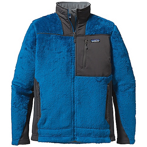 On Sale. Free Shipping. Patagonia Men's R3 Hiloft Jacket DECENT FEATURES of the Patagonia Men's R3 Hiloft Jacket Extremely Warm and Super Light High-Loft Directional Knit Provides Maximum Warmth-To-Weight Ratio, Wicks Moisture and Dries Fast Polartec Power Stretch Fleece Panels Provide Great Fit and Durability In High-Wear Areas Microfleece-Lined Collar, Cuffs and Hem Stretch-Woven Chest Pocket For Quick-Access Storage Draw Cord Hem Traps Warmth and Reduces Heat Loss The SPECS Regular fit Weight: 16.7 oz / 473 g Body: 7.4 oz Polartec Thermal Pro 98% Polyester (70% Recycled), 2% Spandex Side Panels: 6.6 oz Polartec Power Stretch 88% Polyester (60% Recycled), 12%Spandex Pockets: 4.9 oz 95% Polyester, 5% Spandex This product can only be shipped within the United States. Please don't hate us. - $97.99