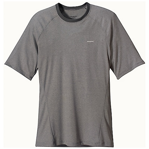 On Sale. Patagonia Men's Capilene 2 LW T-Shirt DECENT FEATURES of the Patagonia Men's Capilene 2 LW T-Shirt Open knit promotes airflow, is naturally stretchy and provides excellent wicking for endurance activities in cool to moderate temperatures Our fastest-drying baselayer fabric insulates enough for use on chilly days and can be worn beneath other layers Self-fabric neckline soft against skin Raglan sleeves and underarm panels merge out of the way of pack straps Flat-rib panel-piecing under the arms and sides is exceptionally breathable, fast drying and eliminates armpit seam chafing Machine-wash cold, tumble dry at low temperature The SPECS Slim fit Weight: 4.5 oz / 127 g 4-oz 100% polyester (54% recycled) circular knit, with Gladiodor odor control for the garment This product can only be shipped within the United States. Please don't hate us. - $27.99