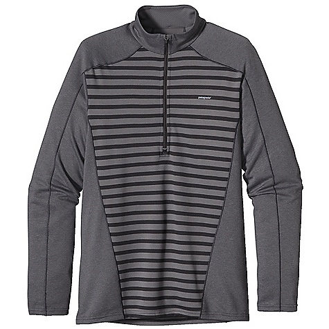 On Sale. Free Shipping. Patagonia Men's Capilene 3 MW Zip Neck DECENT FEATURES of the Patagonia Men's Capilene 3 MW Zip Neck Stretchy double-knit fabric wicks extremely well Durable smooth jersey face slides easily beneath layers Fabric is brushed for warmth, softness and compressibility Provides excellent insulation and breathability Zip-neck for easy climate control Backed by draft flap with zipper garage Raglan sleeves and single-piece shoulder panel merge out of the way of pack straps Side seams are rolled forward for comfort under hip belt Machine-wash cold, tumble dry at low temperature The SPECS Slim fit Weight: 8.8 oz / 249 g 5.4-oz Polartec Power Dry 100% polyester (Solids: 65% recycled) Heathers: 51% recycled Stripes: 56% recycled) double-knit All with Gladiodor odor control for the garment This product can only be shipped within the United States. Please don't hate us. - $41.99