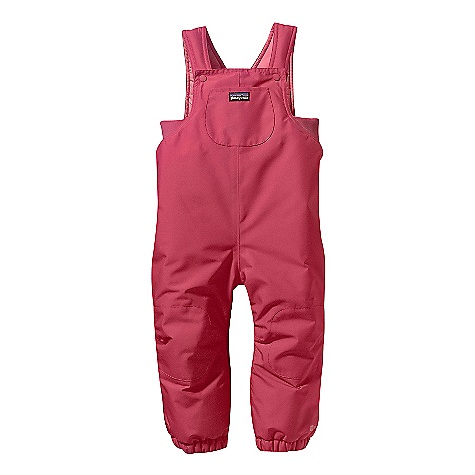 On Sale. Free Shipping. Patagonia Baby Puff Rider Overalls (Fall 2010) DECENT FEATURES of the Patagonia Baby Puff Rider Overalls Soft, 2-layer polyester shell with a waterproof/breathable H2No barrier and Deluge DWR (durable water repellent) is weather repellent 200-g Quallofil insulation is lightweight, compressible and stays warm even when wet Fully seam sealed to keep out snow, wind, rain and cold Two-position snaps on shoulder straps provide room to grow 1in. x 1in. ribbing under arm provides a better weather-shielding fit Double-layer waterproof panels over knees and seat prevent wet-through and add abrasion resistance Articulated knees Elasticized leg openings stretch easily and seal firmly over boots Ankle-to-ankle crotch zipper makes dressing and diaper changes a cinch Center-front pacifier pocket, hand-me-down ID label inside The SPECS Relaxed fit Weight: 13.8 oz / 391 g Shell: 2-layer, 5.6-oz 100% polyester with a waterproof/breathable H2No barrier and Deluge DWR finish Lining: 2-oz 100% polyester plain weave Insulation: 200-g Quallofil polyester Recyclable through the Common Threads Recycling Program This product can only be shipped within the United States. Please don't hate us. - $36.99