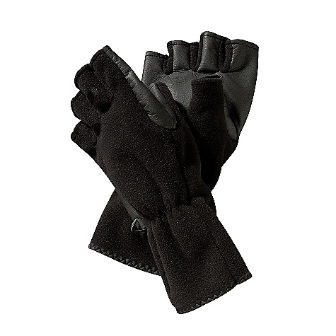 On Sale. Free Shipping. Patagonia Windproof Fingerless Gloves DECENT FEATURES of the Patagonia Windproof Fingerless Gloves Polartec Windbloc fabric has a windproof/breathable barrier Tough, water-resistant fabric reinforces palm Gauntlet seals with elastic and fits under a jacket sleeve The SPECS Formfitting Weight: 2.4 oz / 68 g Hand: 10.5-oz Polartec Windbloc 100% polyester fleece Palm: 60% nylon/40% polyurethane synthetic leather This product can only be shipped within the United States. Please don't hate us. - $24.99