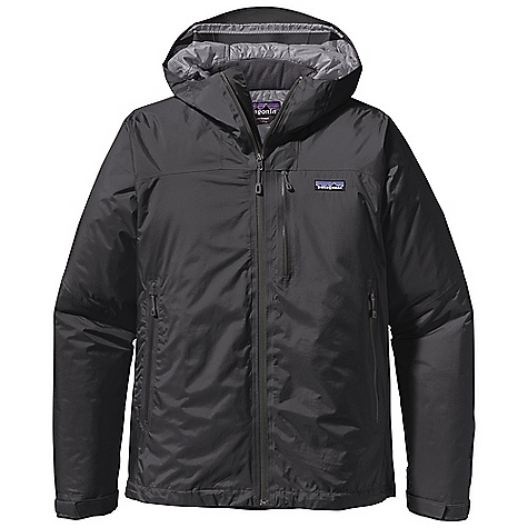 On Sale. Free Shipping. Patagonia Men's Nano Storm Jacket DECENT FEATURES of the Patagonia Men's Nano Storm Jacket H2No Performance Standard 2.5-Layer Nylon Ripstop Shell with a Waterproof/Breathable Barrier and a Deluge DWR (Durable Water Repellent) Finish Lightweight 60-g Primaloft One Insulation Provides Excellent Warmth and Compressibility Unique Quilt Pattern Holds Insulation In Place For Durability Helmet-Compatible, Fully-Adjustable Hood with Laminated Visor For Visibility In Bad Conditions Watertight, Coated Center-Front-Zipper Pockets: Two Handwarmers, One Exterior Left Chest, One Internal Zippered Pocket, One Internal Drop-In Self-Fabric Hook-And-Loop Cuff Closures and Dual-Adjust Drawcord Hem Seal Out The Elements The SPECS Weight: 24.1 oz / 683 g H2No Performance Standard Shell: 2.5-Layer, 2.6 oz 50-Denier 100% Nylon Ripstop with a Waterproof/Breathable Barrier Insulation: 60-g Primaloft One 100% Polyester Lining: 1.4 oz 22-Denier 100% Recycled Polyester Shell and Lining Have a Deluge DWR (Durable Water Repellent) Finish This product can only be shipped within the United States. Please don't hate us. - $196.99