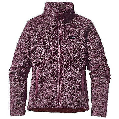 On Sale. Free Shipping. Patagonia Women's Los Lobos Jacket DECENT FEATURES of the Patagonia Women's Los Lobos Jacket Made of deep-pile polyester fleece, trimmed out in sleek taffeta Long, lean jacket silhouette, with contrast taffeta trim at front-zip, cuffs and pockets Front and back princess seaming for a contoured fit Tonal color lining Full length front zipper with stand-up collar Two hand warmer pockets with brushed tricot for warmth Hip length The SPECS Slim fit Weight: 16 oz / 454 g 8.6-oz 100% polyester deep-pile double-faced fleece Lining: 1.2-oz 100% recycled polyester double ripstop with a Deluge DWR (durable water repellent) finish This product can only be shipped within the United States. Please don't hate us. - $82.99