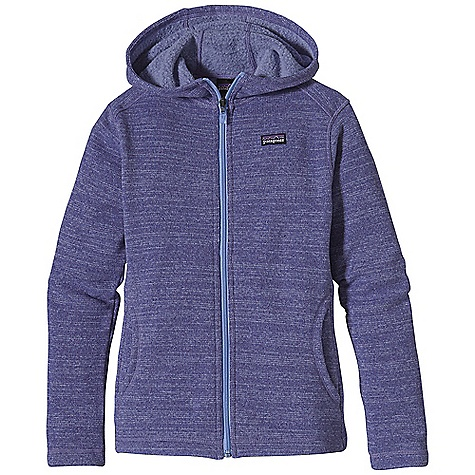 Free Shipping. Patagonia Girl's Better Sweater Hoody DECENT FEATURES of the Patagonia Girls' Better Sweater Hoody Fabric has a sweater-knit face with a fleece interior and heathered over dyed yarns Contoured hood for comfortable fit Two hand warmer pockets Hand-me-down ID label inside The SPECS Regular fit Weight: 13.2 oz / 374 g 9.5-oz 100% polyester with a sweater-knit face and fleece interior This product can only be shipped within the United States. Please don't hate us. - $89.00