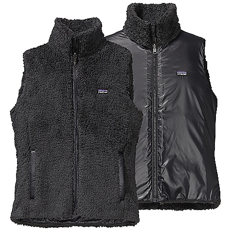 On Sale. Free Shipping. Patagonia Women's Los Lobos Vest DECENT FEATURES of the Patagonia Women's Los Lobos Vest Made of deep-pile polyester fleece Long, lean vest with contrast taffeta trim at front zip and pockets Front princess seaming for a contoured fit Tonal color polyester lining Full-length front zipper with stand-up collar Hand warmer pockets lined with brushed tricot for warmth Hip length The SPECS Slim fit Weight: 11 oz / 312 g 8.6-oz 100% polyester deep-pile double-faced fleece Lining: 1.2-oz 100% recycled polyester double ripstop with a Deluge DWR (durable water repellent) finish This product can only be shipped within the United States. Please don't hate us. - $73.99