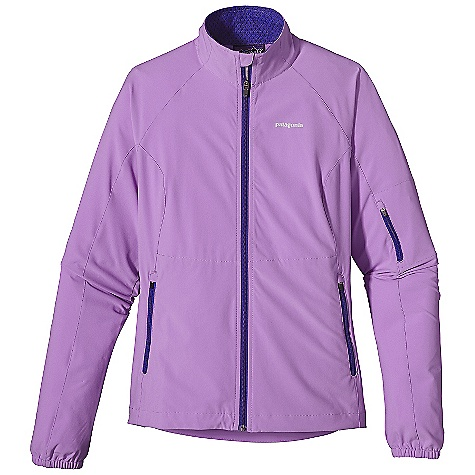On Sale. Free Shipping. Patagonia Women's Traverse Jacket DECENT FEATURES of the Patagonia Women's Traverse Jacket Durable and comfortable stretch-woven recycled polyester dries fast and delivers 4-way stretch Shell is treated with a Deluge DWR finish for weather protection Mesh-lined zip-through stand-up collar with full wind flap and zipper garage Strategically placed zippered handwarmer pockets and a zip pocket at left bicep with interior cord pass-through Gathered cuffs with encased elastic secures fit at wrist Reflective logos at front chest and center-back neck Slight drop-tail hem with single-pull drawcord The SPECS Slim fit Weight: 10.6 oz / 300 g 4.7 oz 70-denier 93% all-recycled polyester, 7% spandex with 4-way mechanical stretch and a Deluge DWR (durable water repellent) finish This product can only be shipped within the United States. Please don't hate us. - $82.99