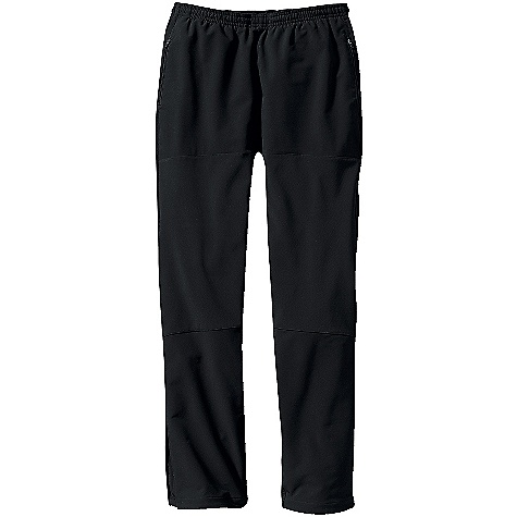 On Sale. Free Shipping. Patagonia Women's Integral Pants DECENT FEATURES of the Patagonia Women's Integral Pants Versatile soft-shell pants combine breathable double-weave fabric and strategically placed windproof panels for protection Deluge DWR (durable water repellent) finish Fabric sanded on inside for improved moisture management and next-to-skin comfort Pull-on waistband has an internal drawcord and brushed elastic for next-to-skin comfort Zippered handwarmer pockets Articulated front windproof panels protect thighs and knees Ankle zip and a stretch gusset for adjustable fit and easy on/off Straight leg The SPECS Body: 9-oz 75-denier 91% polyester, 9% spandex double weave Front Thigh and Knee Panels: 3-layer, 9.6-oz 70-denier 86% polyester, 14% spandex Waist, Knee and Ankle Gussets: 9-oz 75-denier 91% recycled polyester, 9% spandex plain weave All have a Deluge DWR (durable water repellent) finish Weight: 16.3 oz / 462 g Slim fit This product can only be shipped within the United States. Please don't hate us. - $76.99