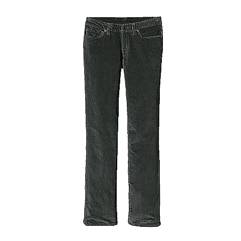 The Women's Corduroy Pants by Patagonia. A classic 5-pocket jean made from organic cotton corduroy with stretch for comfort and mobility. Features of the Patagonia Women's Corduroy Pants Organic cotton corduroy with stretch for comfort and mobility Classic 5-pocket-jeans styling Flat waistband with belt loops, zip fly and front shank closure Front pockets with extra coin pocket rear patch-on pockets Back yoke for shaping Low rise straight leg - $89.00