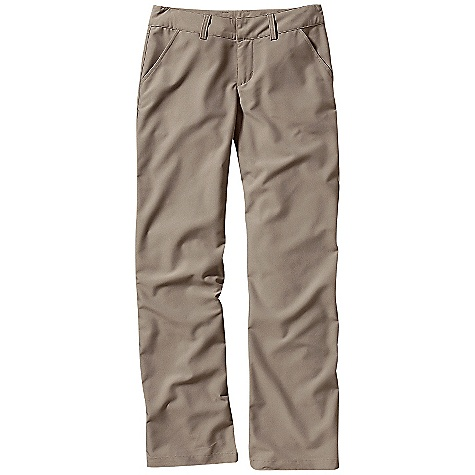 Free Shipping. Patagonia Women's Mystery Pants DECENT FEATURES of the Patagonia Women's Mystery Pant Mechanical stretch-woven fabric Flat waistband with belt loops and zip fly Quarter-top front pockets (zippered internal security pocket inside right pocket) Two rear welted drop-in pockets Back yoke for shaping Regular rise Trouser leg The SPECS Regular fit Weight: 12 oz / 340 g Inseam: 32in. 5.2-oz 52% polyester/48% nylon, with a DWR (durable water repellent) finish This product can only be shipped within the United States. Please don't hate us. - $79.00