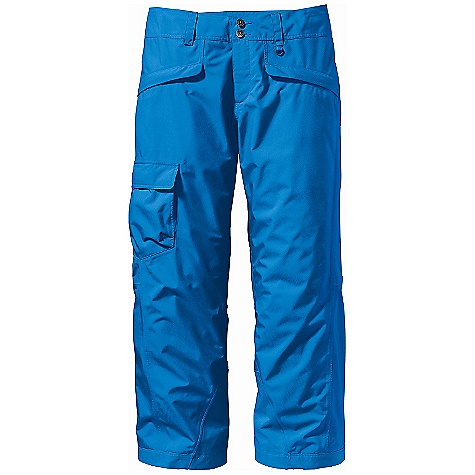 Ski The Men's Snowshot Pants by Patagonia. From hitting a wind lip to landing a cornice, these waterproof/breathable pants let freeriders stay dry, look good and have fun with whatever terrain they find. Features of the Patagonia Men's Snowshot Pants Durable 2-Layer Polyester Has a Waterproof/Breathable H2No Barrier, and Deluge DWR (Durable Water Repellent) Finish For Storm Protection Combination Of a Brushed and Slick Mesh Lining Keeps You Warm and Wicks Away Moisture Waist Details: Soft, Brushed Tricot Lining Wicks Moisture Adjustable Elastic Tabs Customize The Fit Two-Button Closure and Zip Fly Loops On Rear Yoke Securely Attach Pant To Powder Skirt On Any Patagonia Ski/SnowBoard Jacket To Keep Snow Out Mesh-Lined Interior THigh Vents Release Heat and Keep Snow Out Articulated Knees Improve Mobility Gaiters Keep The Snow Out, While Tough Scuff Guards Protect Inside Of Leg and Bottom Hem Pockets: Two Secure Zippered Handwarmers, Two Rear and One Right THigh That Secure with Hook and Loop - $139.99