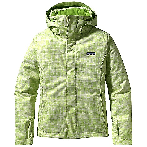 Ski On Sale. Free Shipping. Patagonia Women's Insulated Snowbelle Jacket DECENT FEATURES of the Patagonia Women's Insulated Snowbelle Jacket Soft and durable 2-layer polyester with herringbone weave has a waterproof, breathable H2No barrier for storm protection, and a Deluge DWR (durable water repellent) finish to stop rain and snow 100-g Thermogreen insulation in the body and 60-g in the hood and sleeves ensures warmth where you need it, less bulk where you don't Removable, 2-way adjustable hood (helmet-compatible) Smooth and warm microfleece-lined neck helps keep neck warm and cozy High collar seals out cold air and spindrift Pit zips quickly release heat Articulated arms improve mobility Powder skirt is adjustable and fully featured Webbing loops connect to any Patagonia Ski/ Snowboard Pants to keep the snow out and the skirt down Pockets: Two handwarmers, one chest, one interior drop-in and one interior zippered Includes secure, interior media pocket with cable routing Hem can cinch for extra chilly days Drawcord exits into hand pockets for easy adjustments The SPECS Weight: 34.8 oz / 987 g Regular fit Shell: 2-layer, 5-oz 150-denier 100% polyester herringbone weave with a waterproof, breathable H2No barrier and a Deluge DWR (durable water repellent) finish Lining and Powder Skirt: 2-oz 100% polyester plain weave Insulation: 100-g (60-g in sleeves and hood) Thermogreen 100% polyester (90% recycled) This product can only be shipped within the United States. Please don't hate us. - $222.99