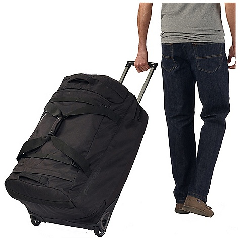 Entertainment Free Shipping. Patagonia Freewheeler Max Wheeled Gear Bag DECENT FEATURES of the Patagonia Freewheeler Max Wheeled Gear Bag Zippered main compartment holds large load zippered end compartment for shoes and quick-access items interior mesh pocket for toiletries Light-colored lining makes contents easy to find Smooth-rolling 80mm wheels provide plenty of clearance Molded bottom pan resists abrasion and protects contents impact resistant skid plates Two-position retractable handle makes steering easy haul handles at either end external compression straps storable business card holder Batten supports on sides keep bag standing and collapse for easy storage The SPECS Weight: 168 oz / 4763 g Volume: 7505 cubic inches / 123 liter Body: 11-oz 1,200-denier 100% recycled polyester Base: molded foam and 11-oz 1,200-denier 100% recycled polyester Lining: 3.3-oz 200-denier 100% polyester All treated with a polyurethane coating and a Deluge DWR (durable water repellent) finish This product can only be shipped within the United States. Please don't hate us. - $449.00