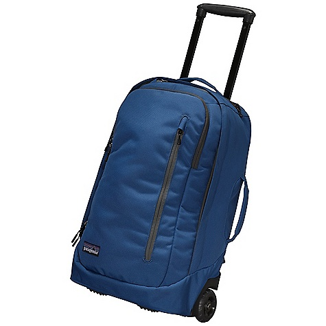 Entertainment Free Shipping. Patagonia MLC Wheelie Travel Bag DECENT FEATURES of the Patagonia MLC Wheelie Travel Bag Main compartment holds three-to-five days worth of clothes and has three zippered pockets for toiletries and electronics another pocket holds most 15in. laptops Second zippered compartment has a security pocket Third zippered pocket provides easy access to airline tickets and passport Fourth zippered pocket is fleece-lined for safe transport of electronics and eyewear; easy access to office organizer Padded base provides structure and protects contents two-position retractable handle for superior steering, control, ergonomics and durability Three carrying options: wheelie backpack with ergonomic shoulder straps that tuck neatly into a zippered compartment suitcase with a side-mounted fabric handle Smooth-rolling 80mm wheels provide plenty of clearance The SPECS Weight: 107 oz / 3033 g Volume: 2136 cubic inches / 35 liter Body: 11-oz 1,200-denier 100% recycled polyester Lining: 3.3-oz 200-denier polyester All treated with a polyurethane coating and a Deluge DWR (durable water repellent) finish This product can only be shipped within the United States. Please don't hate us. - $249.00