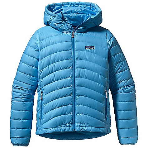 Free Shipping. Patagonia Women's Down Sweater Full-Zip Hoody DECENT FEATURES of the Patagonia Women's Down Sweater Full-Zip Hoody Superlight, windproof shell has high tear-strength and is treated with a Deluge DWR finish Quilted construction stabilizes 800-fill-power premium European goose down Single-pull, adjustable helmet-compatible hood Two zippered hand warmer pockets; one internal stretch mesh self-stuff pocket with a reinforced carabiner clip-in loop Nylon-bound elastic cuffs and adjustable Draw cord hem seal out drafts The SPECS Regular fit Weight: 14 oz / 397 g Shell and Lining: 1.4-oz 22-denier 100% recycled polyester ripstop with a Deluge DWR (durable water repellent) finish Insulation: 800-fill-power premium European goose down This product can only be shipped within the United States. Please don't hate us. - $250.00