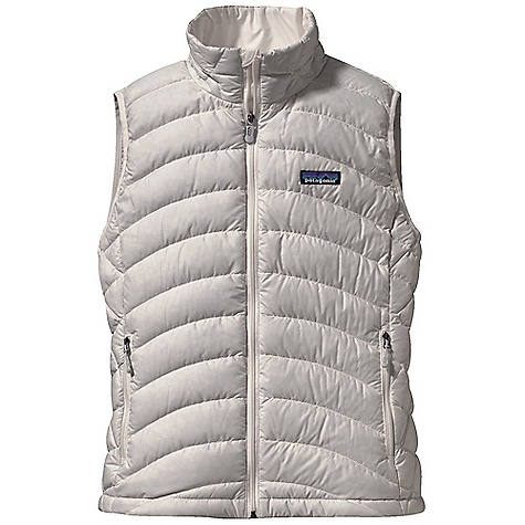 Free Shipping. Patagonia Women's Down Sweater Vest DECENT FEATURES of the Patagonia Women's Down Sweater Vest Superlight, windproof shell fabric with high tear-strength has a Deluge DWR finish Quilted construction stabilizes 800-fill-power premium European goose down Zippered pockets: two hand warmers, one internal stretch mesh self-stuff pocket with a reinforced carabiner clip-in loop Elastic binding at armholes Adjustable drawcord hem seals out wind The SPECS Slim fit Weight: 8.2 oz / 232 g Shell and Lining: 1.4 oz 22-denier 100% recycled polyester with a Deluge DWR (durable water repellent) finish Insulation: 800-fill-power premium European goose down This product can only be shipped within the United States. Please don't hate us. - $150.00