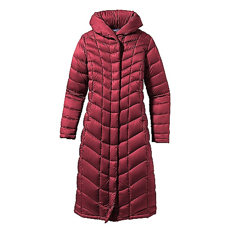 On Sale. Free Shipping. Patagonia Women's Downtown Loft Parka DECENT FEATURES of the Patagonia Women's Downtown Loft Parka Satin polyester shell with elegant contoured quilting and 800-fill-power premium European goose down Articulated hood stows neatly in shawl collar 2-way front zipper with wind flap On-seam, zippered handwarmer pockets Interior zippered chest pocket Below knee length The SPECS Slim fit Weight: 34.2 oz / 969 g 2.8 oz 100% polyester with a Deluge DWR (durable water repellent) finish Insulation: 800-fill-power premium European goose down This product can only be shipped within the United States. Please don't hate us. - $264.99