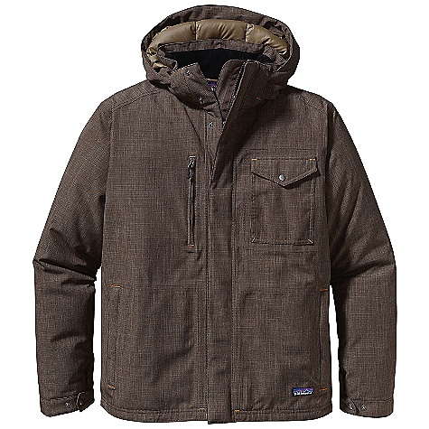 Free Shipping. Patagonia Men's Wanaka Down Jacket FEATURES of the Patagonia Men's Wanaka Down Jacket 2-layer H2No Performance Standard shell made of recycled polyester with a waterproof/breathable barrier, Deluge DWR finish and 600-fillpower premium European goose down insulation Hooded jacket with 2-way zipper, stand-up collar, snap closure external storm flap and adjustable snap closure cuffs insulated, removable and adjustable hood Pockets: Flapped, snap-closure, external left-chest pocket and vertical zippered external right-chest pocket two zippered, fleece-lined hand warmers Drop-tail hem Hip length - $399.00