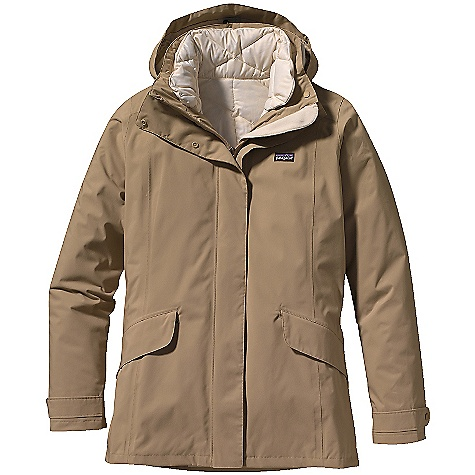 On Sale. Free Shipping. Patagonia Women's Tres Jacket (Fall 2010) DECENT FEATURES of the Patagonia Women's Tres Jacket Versatile 3-in-1 waterproof, down-insulated jacket offers three options: 2-layer waterproof/breathable, windproof jacket with a warm zip-in/zip-out vest insulated with 600-fill-power down Jacket has adjustable snap-on hood High, zip-through stand-up collar that opens flat for venting 2-way full zip with storm flap, secures with snaps Princess seams front and back for contouring Welted front hand warmer pockets are zippered and secure Internal zippered security pocket 600-fill-power premium European goose down vest has pleated front styling Back has shirred, elasticized waist detail Zippered hand warmer pockets in side seams Hip length The SPECS Slim fit Weight: 32 oz / 907 g Shell: 2-layer, 4-oz 100% nylon with a waterproof/breathable H2No barrier and Deluge DWR finish Shell Lining: 2.3-oz 100% all-recycled polyester plain weave Insulated Liner: 1.5-oz 22-denier 100% all-recycled polyester Zip-out Vest: 600-fill-power premium European goose down This product can only be shipped within the United States. Please don't hate us. - $225.99