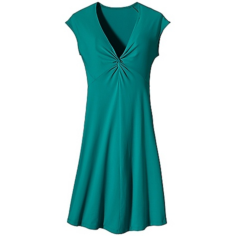Entertainment Free Shipping. Patagonia Women's Bandha Dress DECENT FEATURES of the Patagonia Women's Bandha Dress Stretchy and soft synthetic jersey knit Excellent shape retention Wicks moisture Brushed interior V-neck with center-front twist Sleeveless A-line for mobility Shorter length Hem falls above the knee The SPECS Slim fit, Falls to knee 6-oz 92% nylon, 8% spandex smooth-faced jersey knit with moisture-wicking performance This product can only be shipped within the United States. Please don't hate us. - $79.00